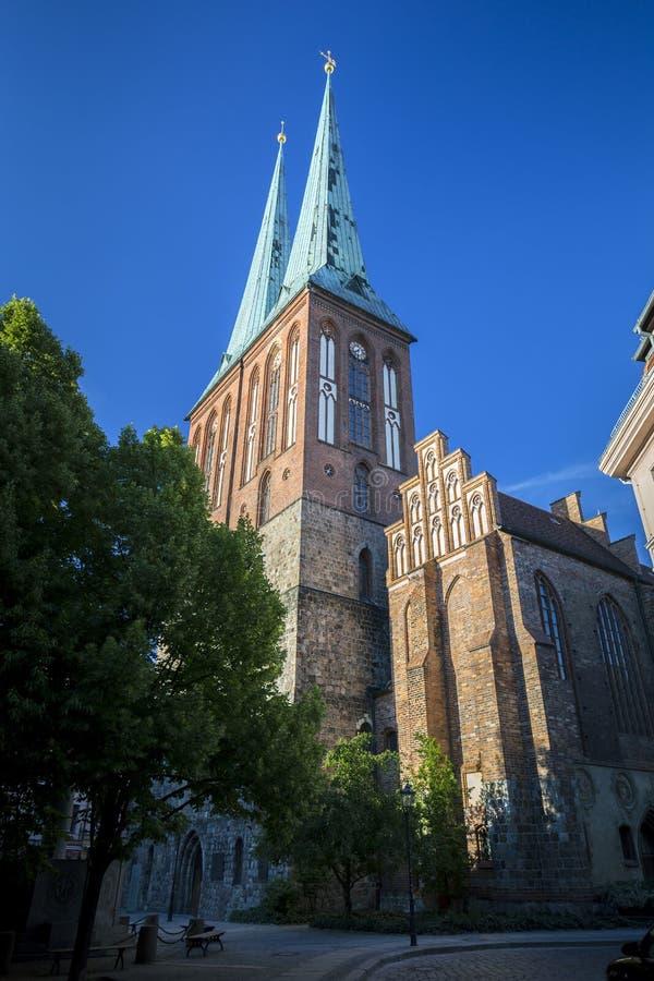 Chiesa di San Nicola a Berlino immagine stock