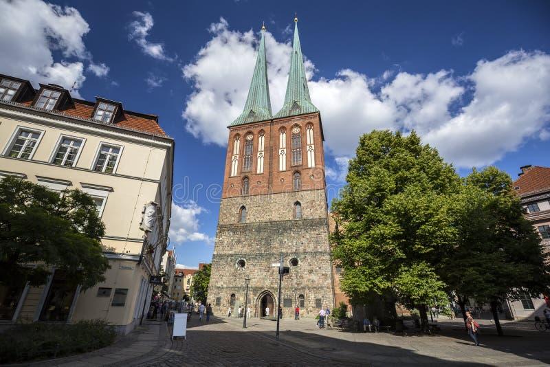 Chiesa di San Nicola a Berlino immagini stock