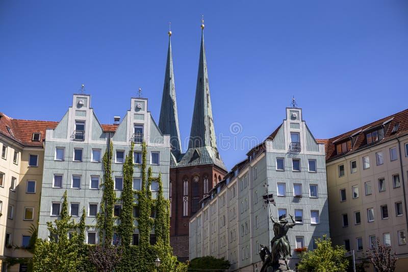 Chiesa di San Nicola a Berlino fotografia stock libera da diritti