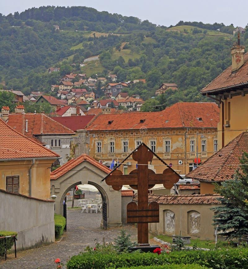 Chiesa di San Nicola in Brasov fotografia stock libera da diritti