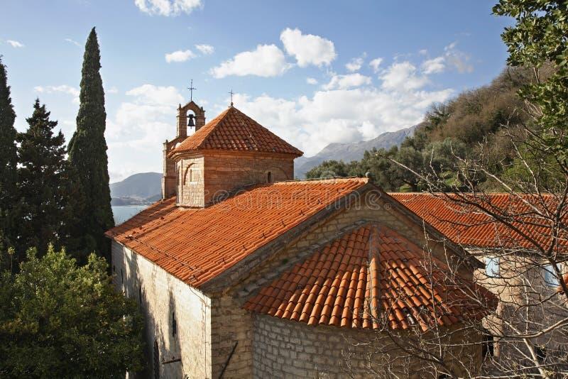 Chiesa di San Nicola nel monastero di Praskvica montenegro fotografia stock