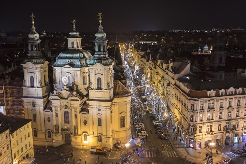 Chiesa di San Nicola a Praga fotografia stock