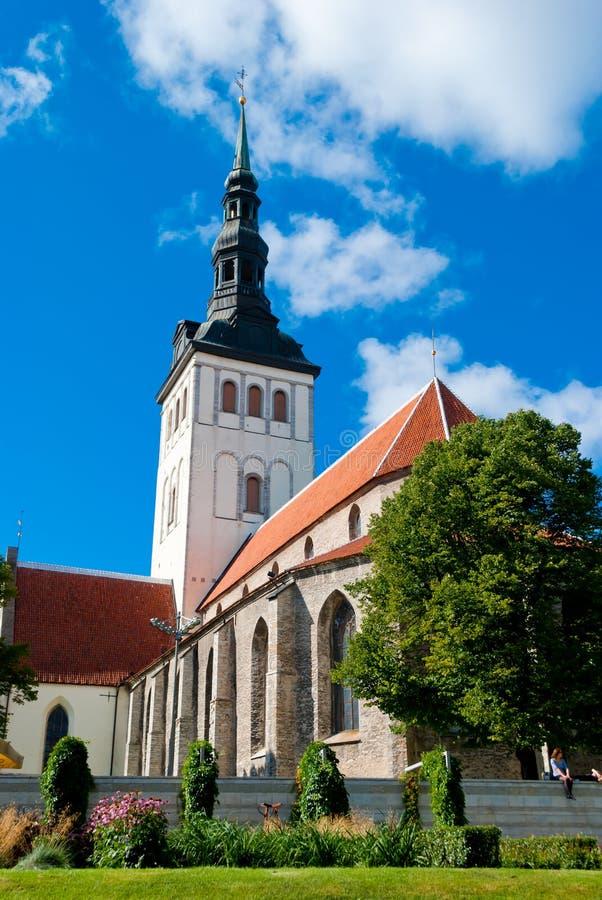 Chiesa di San Nicola, Tallinn fotografia stock