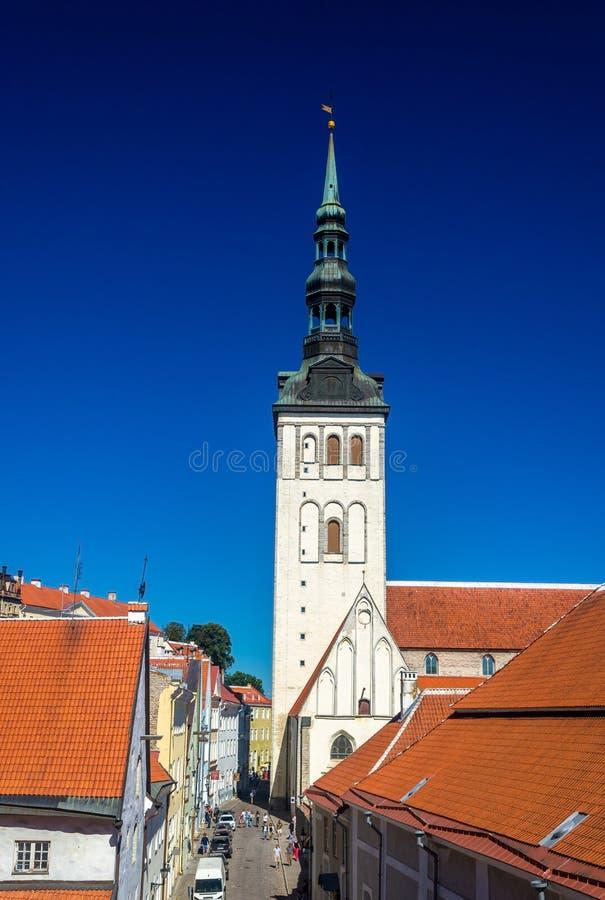 Chiesa di San Nicola a Tallinn immagine stock