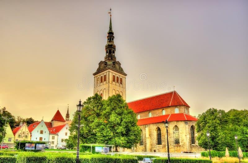 Chiesa di San Nicola a Tallinn immagini stock libere da diritti