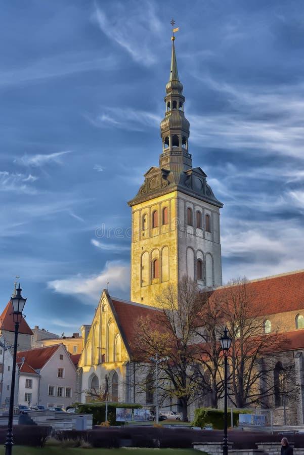 Chiesa di San Nicola, Tallinn immagini stock