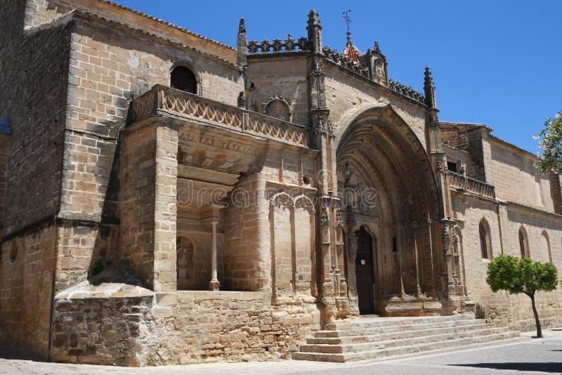 Chiesa di San Pablo della città di Ubeda in Andalusia fotografia stock libera da diritti