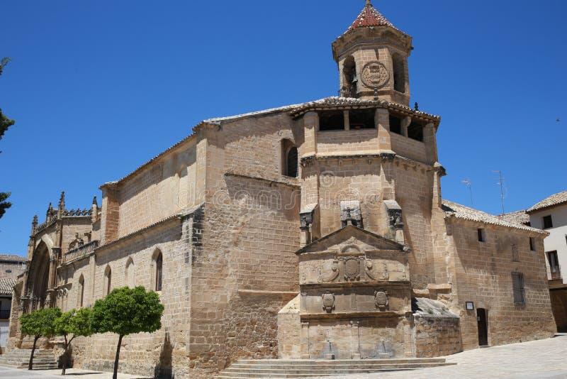 Chiesa di San Pablo della città di Ubeda in Andalusia fotografia stock