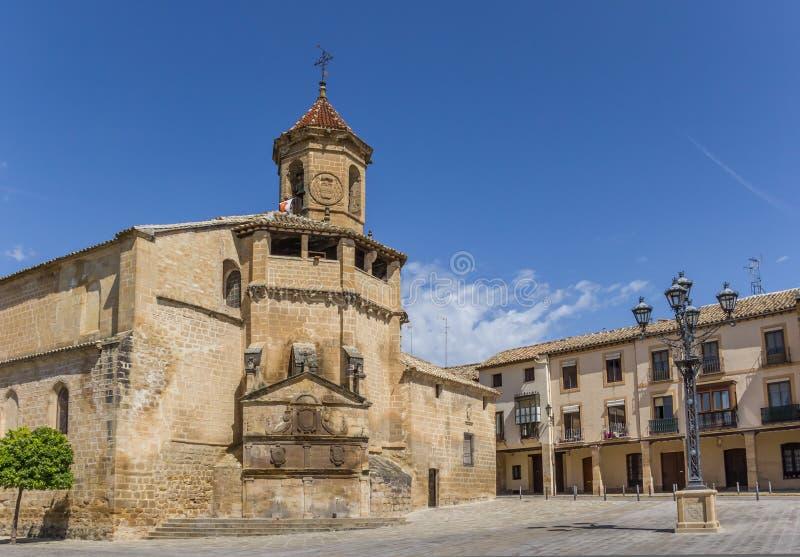 Chiesa di San Pablo nella città storica Ubeda fotografia stock