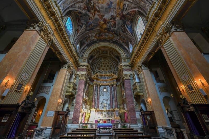 Chiesa di San Pantaleo - Rome, Italien royaltyfri fotografi