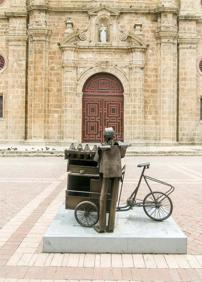 Chiesa di San Pedro Claver, Colombia immagini stock