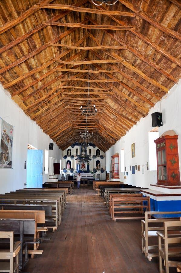 Chiesa di San Pedro de Atacama, Cile fotografie stock libere da diritti