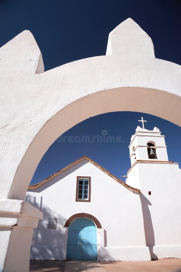 Chiesa di San Pedro, San Pedro de Atacama, Cile immagine stock