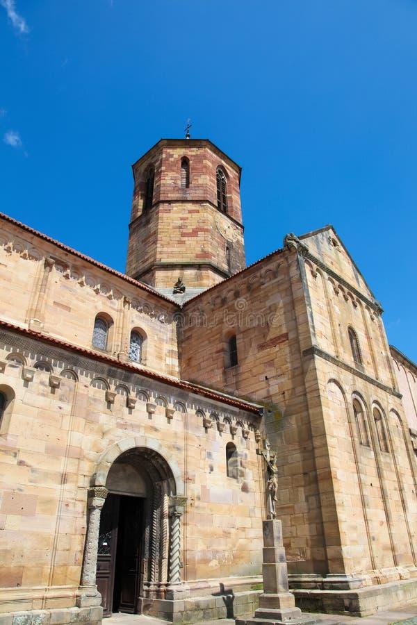 Chiesa di San-Pierre-et-Paul in Rosheim, l'Alsazia, Francia fotografia stock libera da diritti