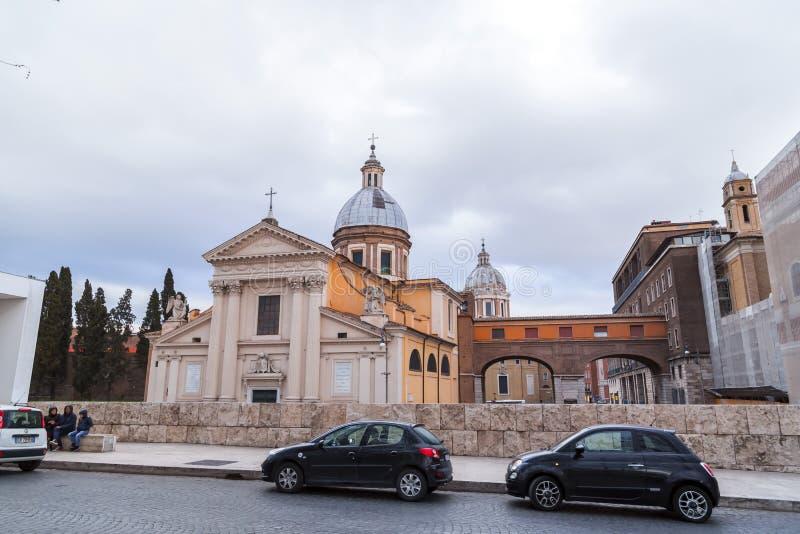 Chiesa Di SAN Rocco ή εκκλησία του ST Roch στη Ρώμη, Ιταλία στοκ φωτογραφία με δικαίωμα ελεύθερης χρήσης