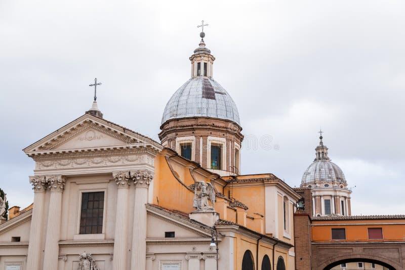 Chiesa di San Rocco eller St Roch Church i Rome, Italien arkivfoto