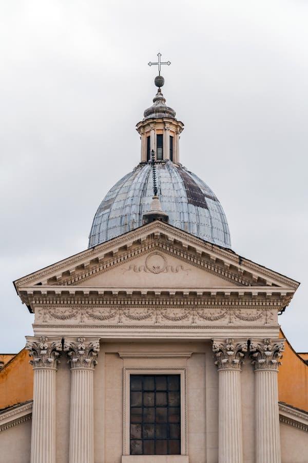 Chiesa di San Rocco eller St Roch Church i Rome, Italien arkivbilder