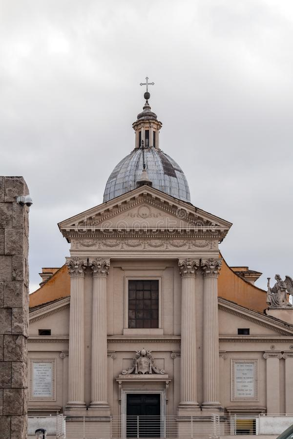 Chiesa di San Rocco eller St Roch Church i Rome, Italien royaltyfri fotografi
