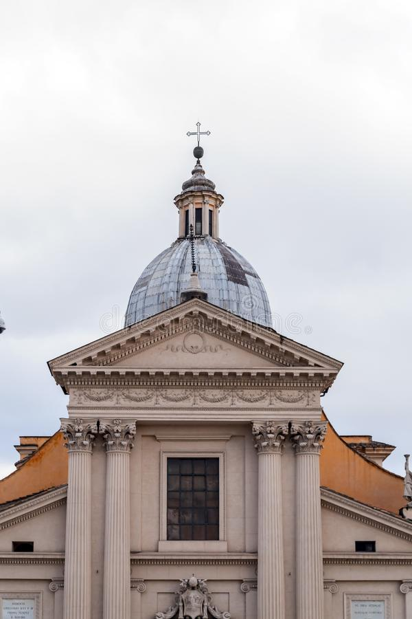 Chiesa di San Rocco eller St Roch Church i Rome, Italien fotografering för bildbyråer