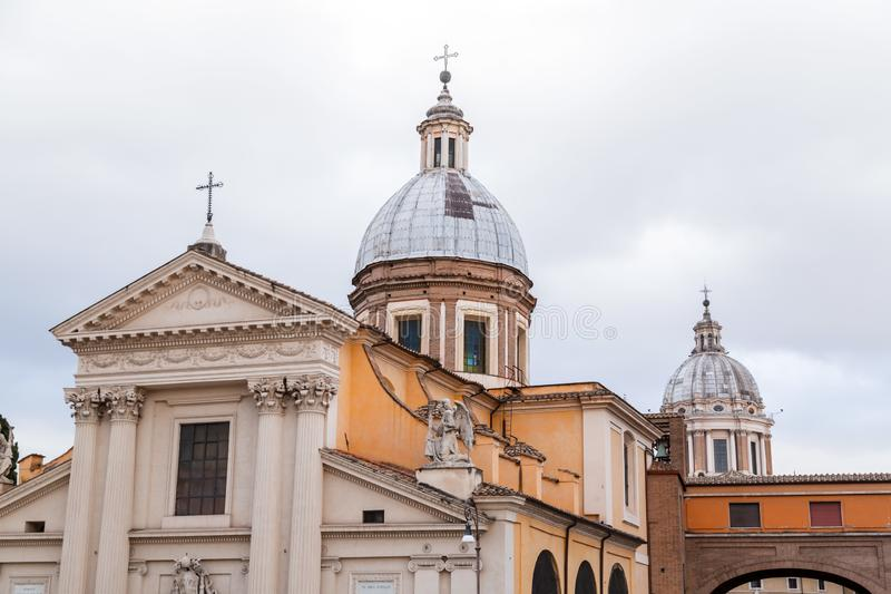 Chiesa di San Rocco or St. Roch Church in Rome, Italy. Chiesa di San Rocco or St. Roch Church, founded in 1499 by Pope Alexander VI in Rome, Italy stock photo