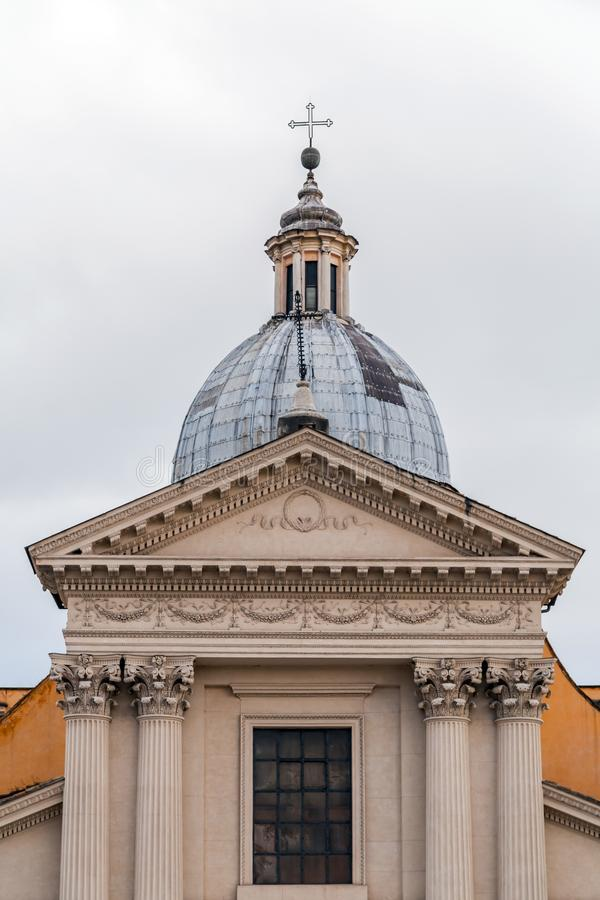 Chiesa di San Rocco or St. Roch Church in Rome, Italy. Chiesa di San Rocco or St. Roch Church, founded in 1499 by Pope Alexander VI in Rome, Italy stock images