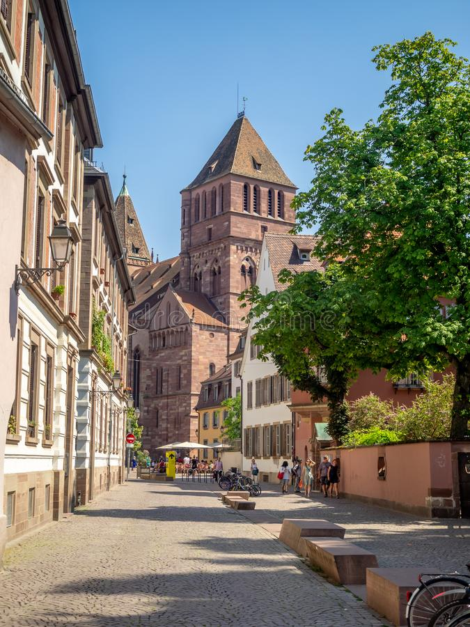 Chiesa di San Tommaso a Strasburgo fotografia stock libera da diritti