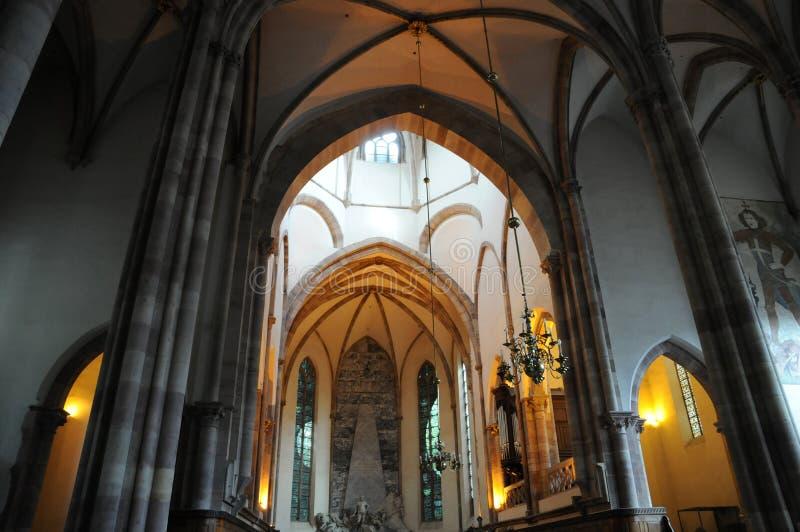 Chiesa di San Tommaso a Strasburgo nell'Alsazia fotografie stock
