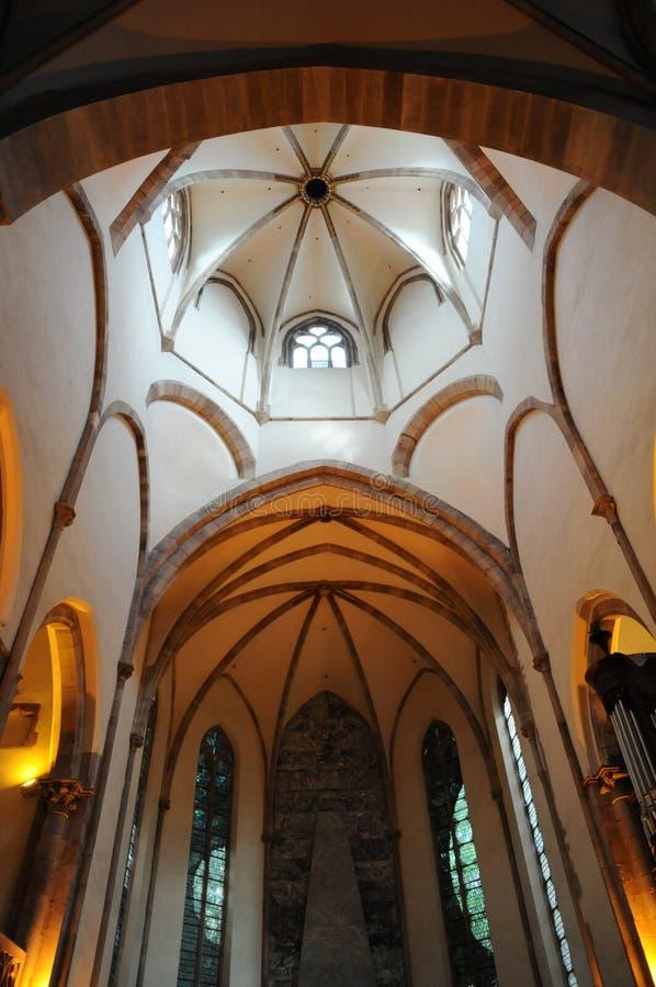 Chiesa di San Tommaso a Strasburgo nell'Alsazia immagini stock libere da diritti