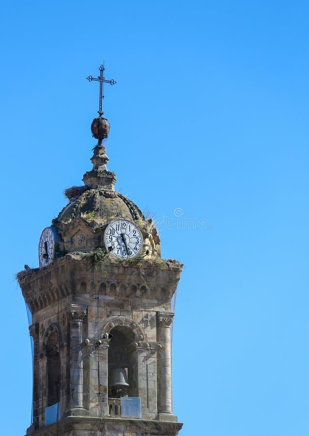 Chiesa di San Vicente Martir in Vitoria fotografia stock libera da diritti
