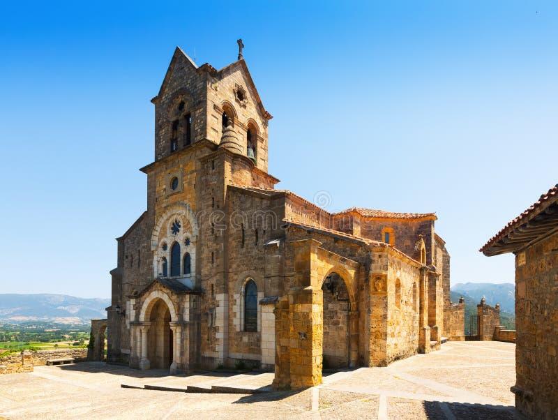 Chiesa di San Vicente Martir y San Sebastian in Frias immagine stock libera da diritti