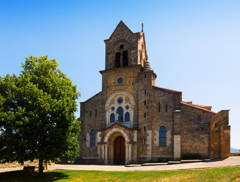 Chiesa di San Vicente Martir y San Sebastian in Frias fotografia stock libera da diritti