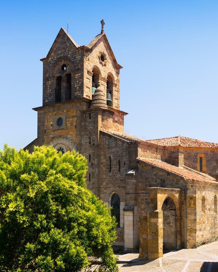Chiesa di San Vicente Martir y San Sebastian Frias, provincia della B immagini stock libere da diritti