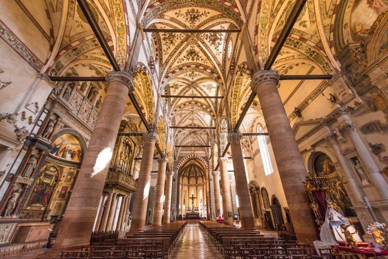 Chiesa di Sant Anastasia, Verona, Italia immagine stock libera da diritti
