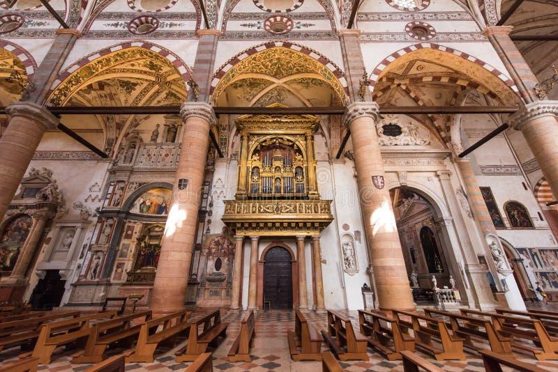 Chiesa di Sant Anastasia, Verona, Italia fotografie stock libere da diritti