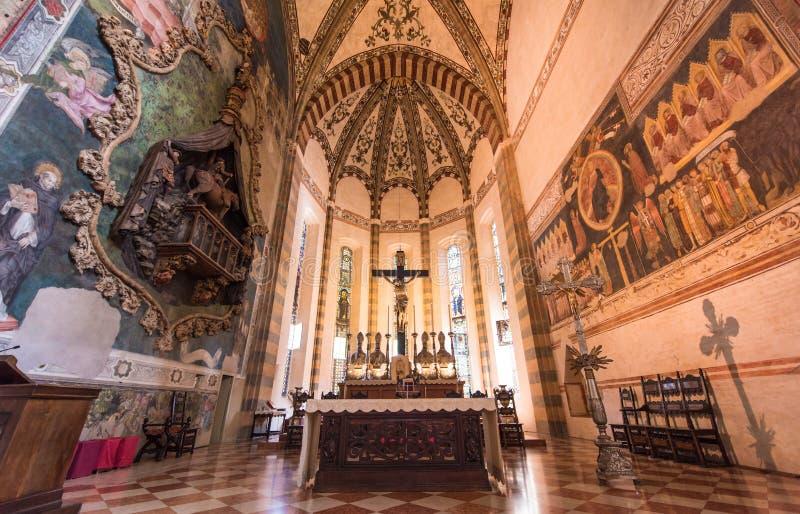 Chiesa di Sant Anastasia, Verona, Italia fotografia stock