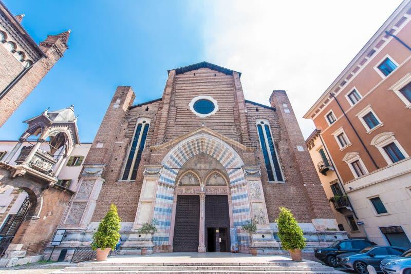 Chiesa di Sant Anastasia, Verona, Italia fotografie stock