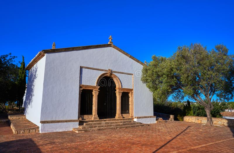 Chiesa di Sant Joan Hermitage in Denia fotografie stock