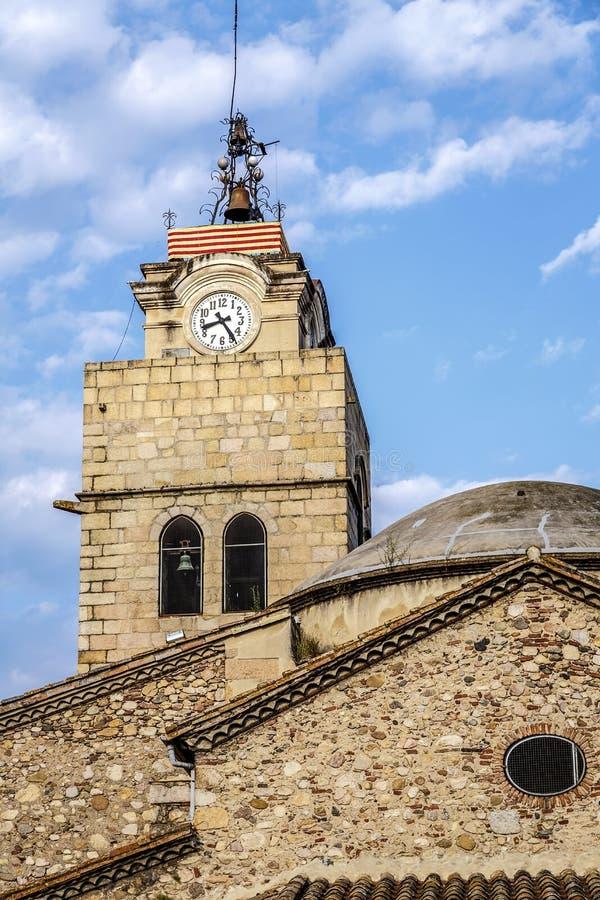 Chiesa di Santa Coloma de Farners fotografia stock libera da diritti