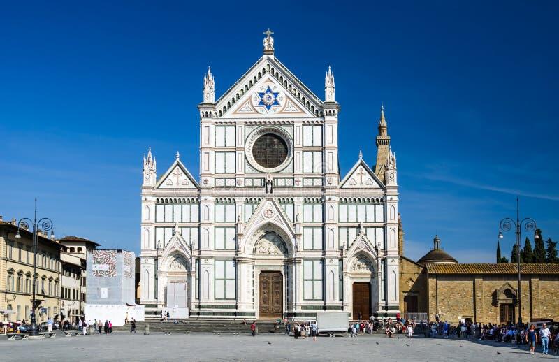 Chiesa di Santa Croce a Firenze, Italia fotografie stock libere da diritti