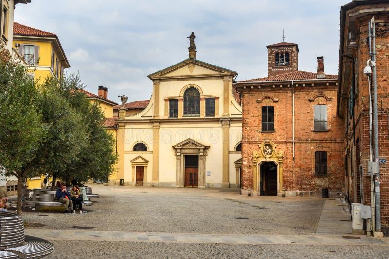 Chiesa di Santa Maria al Carrobiolo a Monza L'Italia fotografia stock libera da diritti