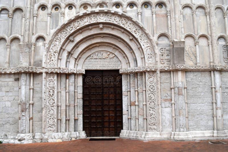 Chiesa di Santa Maria della Piazza Ancona arkivbild