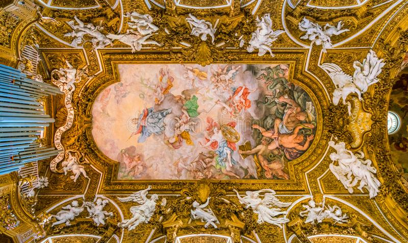 Chiesa di Santa Maria della Vittoria a Roma, Italia immagini stock