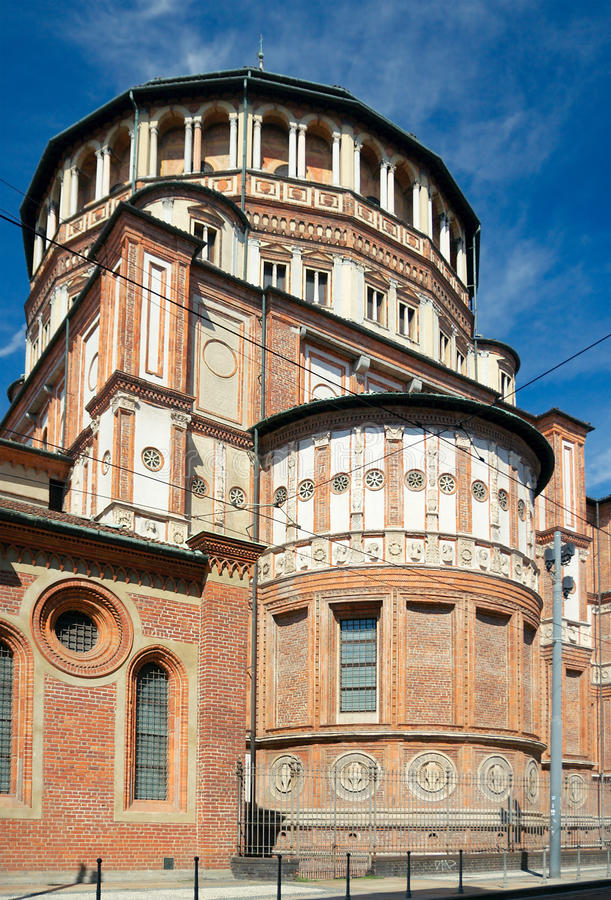 Chiesa Di Santa Maria delle Grazie, Mediolan, Włochy (1497) obraz royalty free