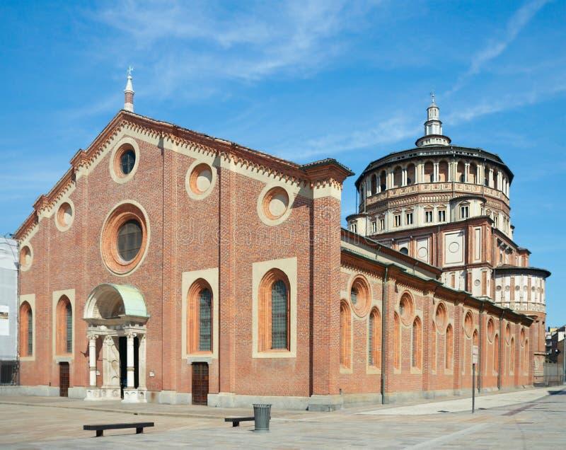 Chiesa Di Santa Maria delle Grazie, Mediolan, Włochy (1497) zdjęcia royalty free