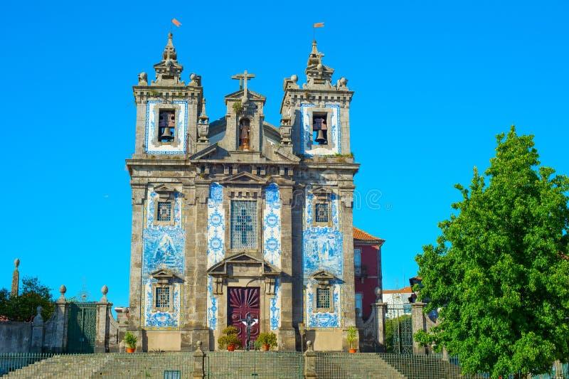 Chiesa di Santo Ildefonso Oporto, Portogallo fotografia stock libera da diritti
