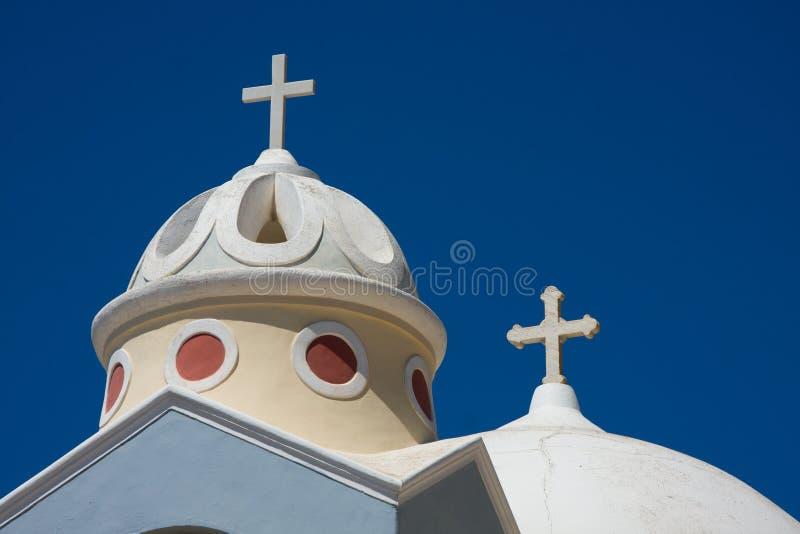 Chiesa di Santorini, Grecia fotografie stock