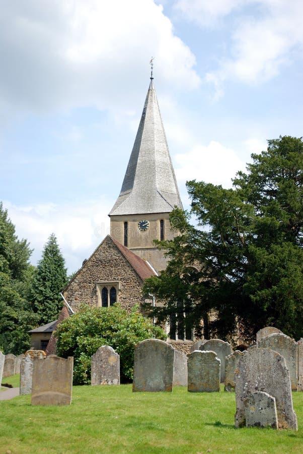Chiesa di Shere, Surrey fotografia stock libera da diritti