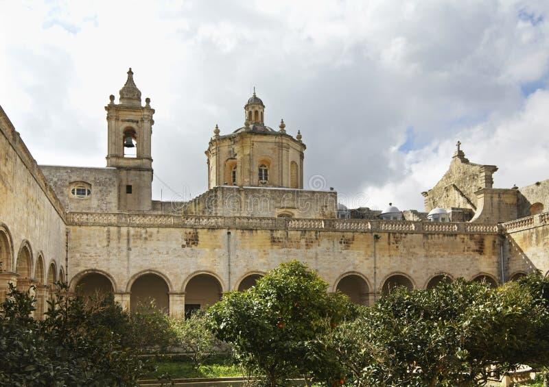 Chiesa di St Dominic e del monastero domenicano a Rabat malta fotografia stock libera da diritti