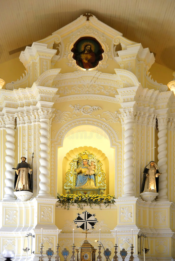 Chiesa di St.dominic, macau fotografia stock libera da diritti