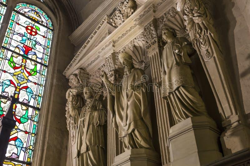 Chiesa di St Germain Auxerrois, Parigi, Francia immagine stock libera da diritti